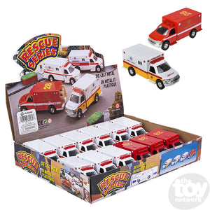 "5"" DIECAST PULLBACK RESCUE AMBULANCE"