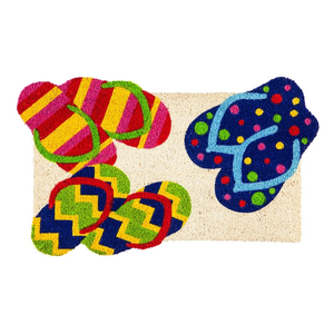 FLIP FLOPS SHAPED COIR MAT, EVERGREEN - A. Dodson's
