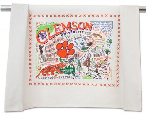CLEMSON UNIVERSITY DISH TOWEL BY CATSTUDIO, Catstudio - A. Dodson's
