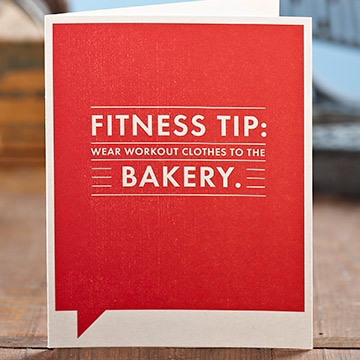 FITNESS TIP FRIENDSHIP CARD, Frank Funny by COMPENDIUM - A. Dodson's
