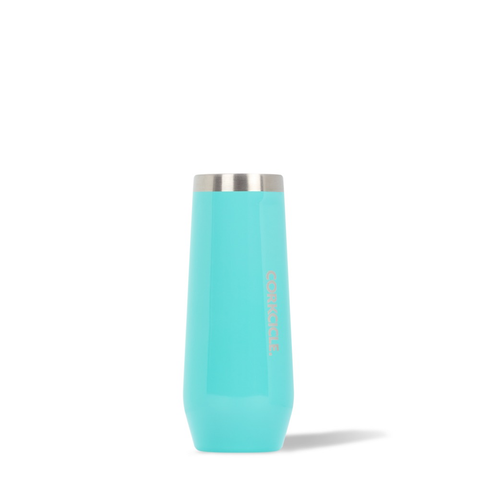 7oz TURQUOISE STEMLESS FLUTE CORKCICLE, CORKCICLE - A. Dodson's