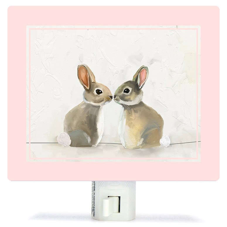 BABY BUNNIES BY CATHY WALTERS NIGHT LIGHT, Greenbox Art - A. Dodson's