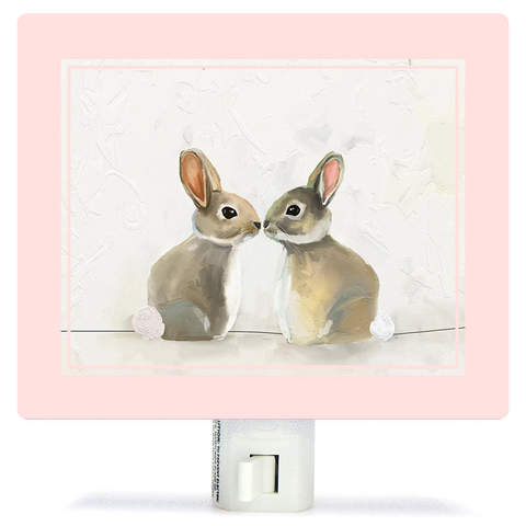 BABY BUNNIES BY CATHY WALTERS NIGHT LIGHT Greenbox Art Home Fall - A. Dodson's