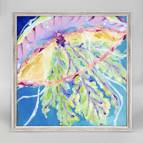 JELLYFISH NO. 3 BY SUSAN PEPE MINI FRAMED CANVAS