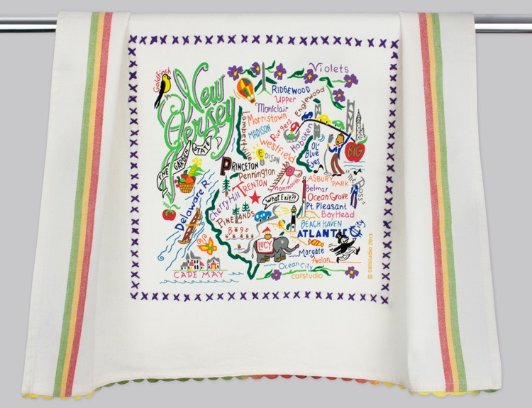 NEW JERSEY DISH TOWEL BY CATSTUDIO, Catstudio - A. Dodson's