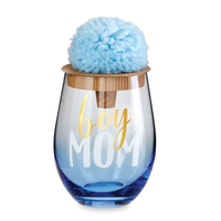 BOY MOM WINE GLASS SET