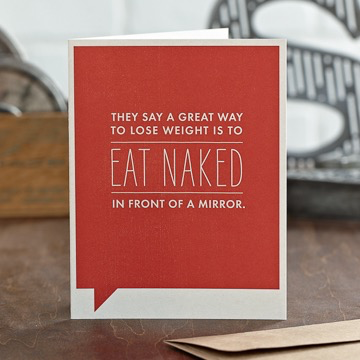EAT NAKED CARD, Frank Funny by COMPENDIUM - A. Dodson's