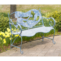MERMAID METAL BENCH, EVERGREEN - A. Dodson's
