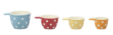 CERAMIC MEASURING CUPS WITH DOTS, Creative Co-op - A. Dodson's