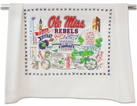 OLE MISS UNIVERSITY OF MISSISSIPPI DISH TOWEL Catstudio - A. Dodson's