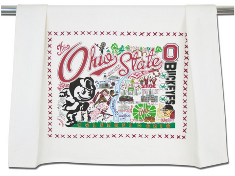 OHIO STATE UNIVERSITY DISH TOWEL BY CATSTUDIO, Catstudio - A. Dodson's