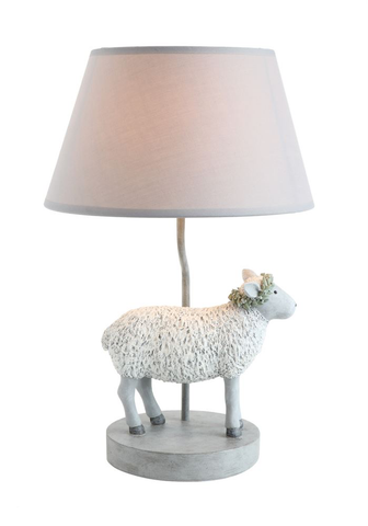 RESIN SHEEP LAMP, Creative Co-op - A. Dodson's