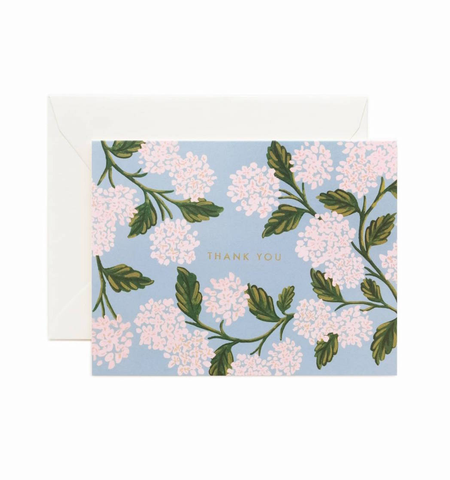HYDRANGEA THANK YOU CARD, Rifle Paper Co - A. Dodson's