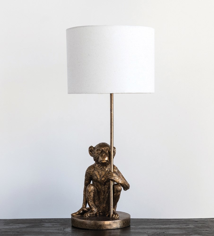 RESIN MONKEY TABLE LAMP