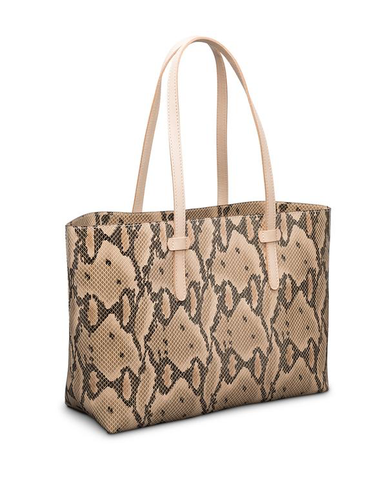BREEZY EAST WEST TOTE - MARGOT CREAM SNAKE