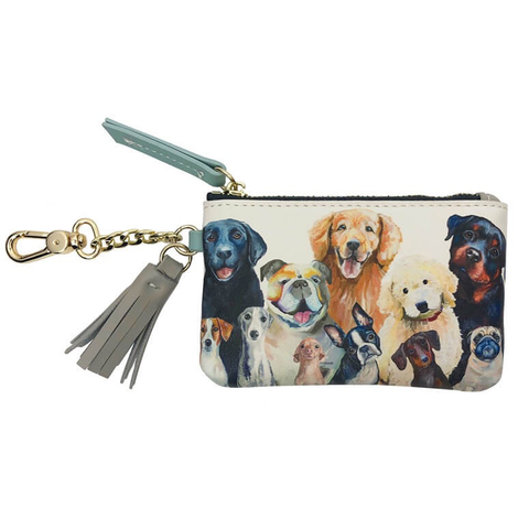 DOG BUNCH - FASHION ACCESSORIES KEY POUCH 5x3.25, Greenbox Art - A. Dodson's
