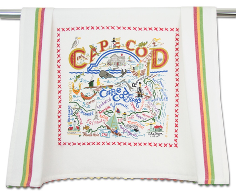 CAPE COD DISH TOWEL BY CATSTUDIO