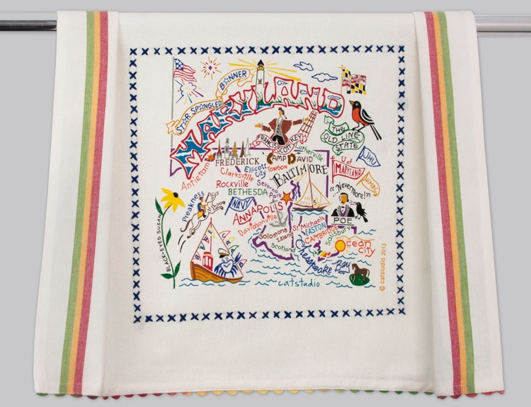 MARYLAND DISH TOWEL BY CATSTUDIO, Catstudio - A. Dodson's