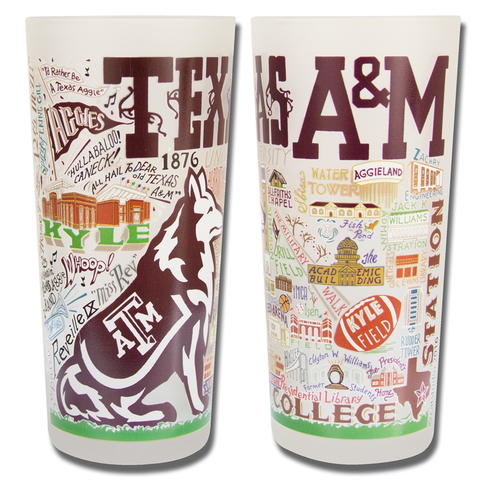 TEXAS A&M UNIVERSITY GLASS BY CATSTUDIO