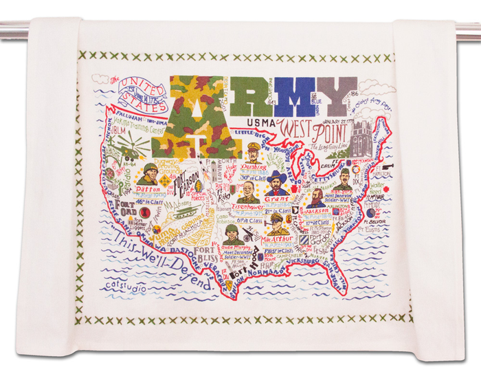 ARMY DISH TOWEL BY CATSTUDIO