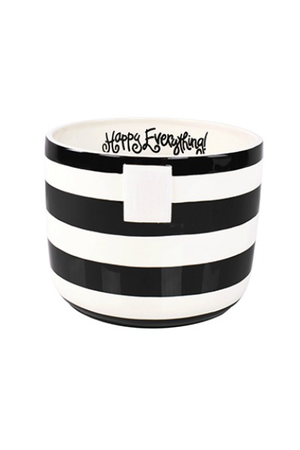 HAPPY EVERYTHING BLACK STRIPE MINI BOWL Happy Everything - A. Dodson's