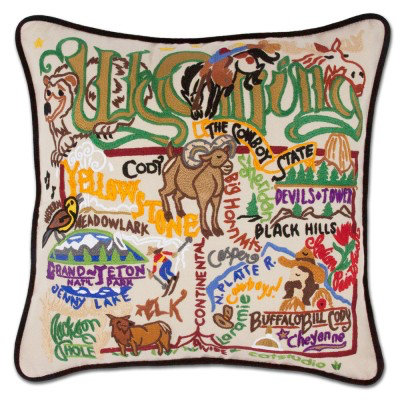 WYOMING PILLOW BY CATSTUDIO