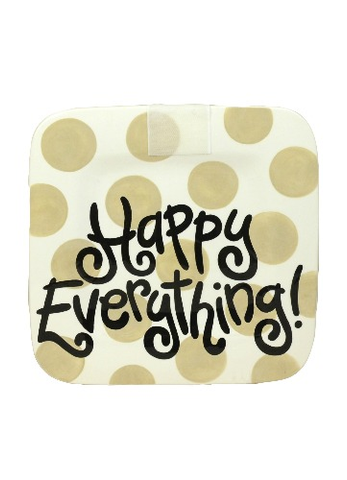 HAPPY EVERYTHING NEUTRAL DOT MINI PLATTER