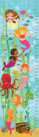 MERMAID MINGLE AND PLAY BY LIZA LEWIS GROWTH CHART, Greenbox Art - A. Dodson's