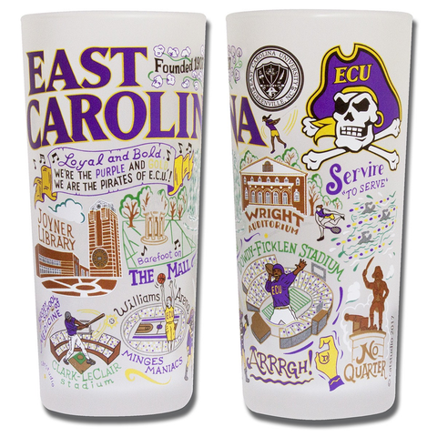 EAST CAROLINA UNIVERSITY GLASS BY CATSTUDIO, Catstudio - A. Dodson's