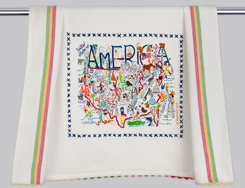 AMERICA DISH TOWEL BY CATSTUDIO Catstudio Home Spring - A. Dodson's