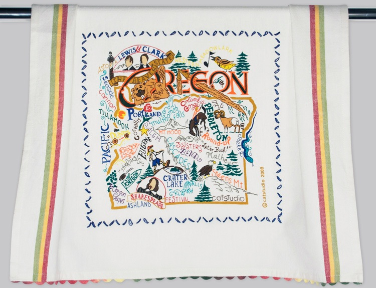 OREGON DISH TOWEL BY CATSTUDIO, Catstudio - A. Dodson's