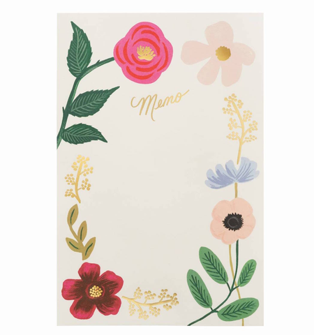 WILDFLOWERS MEMO NOTEPAD, Rifle Paper Co - A. Dodson's
