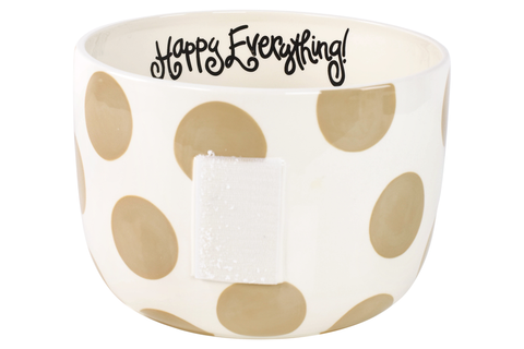 HAPPY EVERYTHING NEUTRAL DOT BIG BOWL