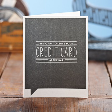 CREDIT CARD BIRTHDAY CARD, Frank Funny by COMPENDIUM - A. Dodson's