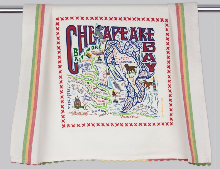 CHESAPEAKE BAY DISH TOWEL Catstudio - A. Dodson's