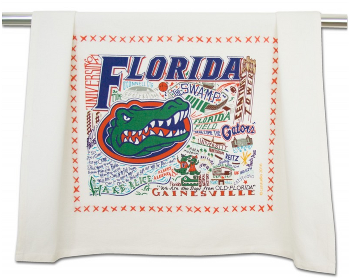 UNIVERSITY OF FLORIDA DISH TOWEL BY CATSTUDIO