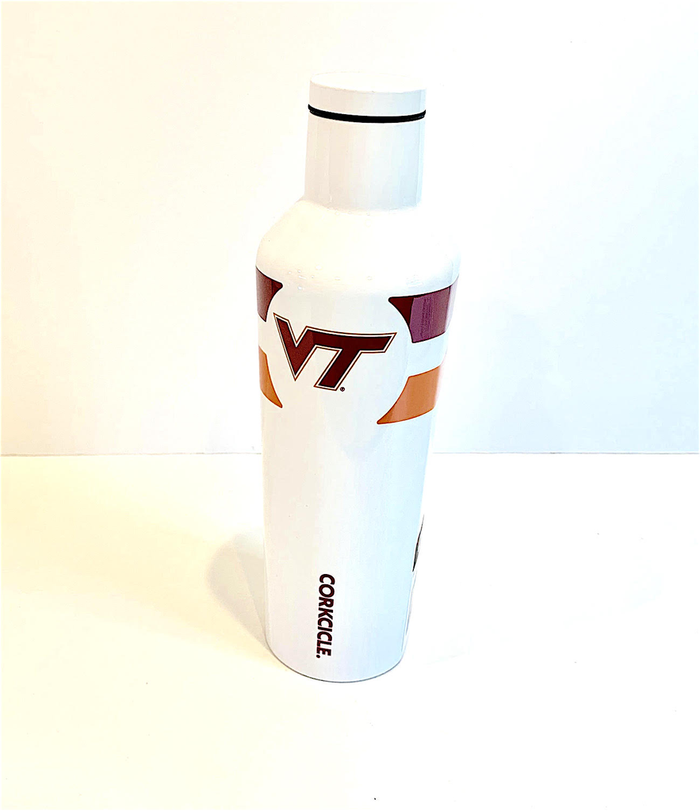 16oz  VIRGINIA TECH VT GYM STRIPE CANTEEN CORKCICLE