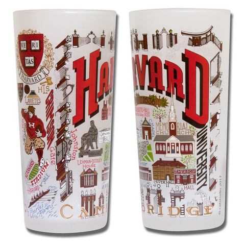 HARVARD UNIVERSITY GLASS BY CATSTUDIO