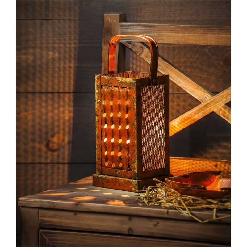 VINTAGE CHEESE GRATER LAMP