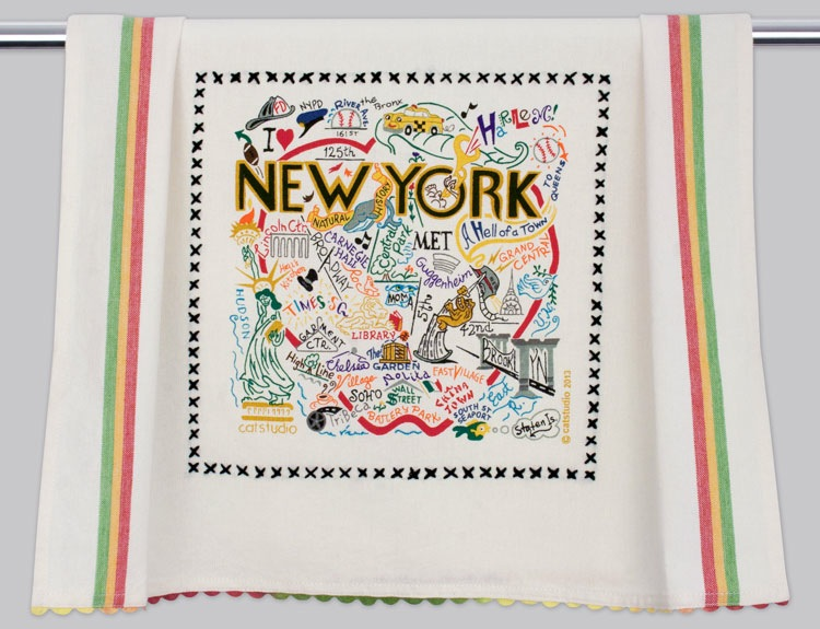 NEW YORK CITY DISH TOWEL Catstudio - A. Dodson's