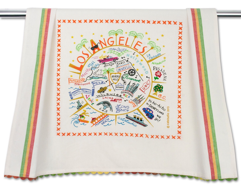 LOS ANGELES DISH TOWEL BY CATSTUDIO