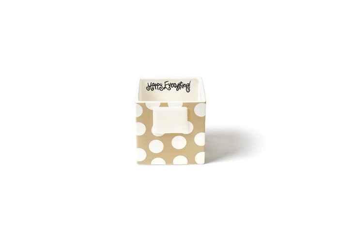 HAPPY EVERYTHING NEUTRAL DOT MINI NESTING CUBE SMALL