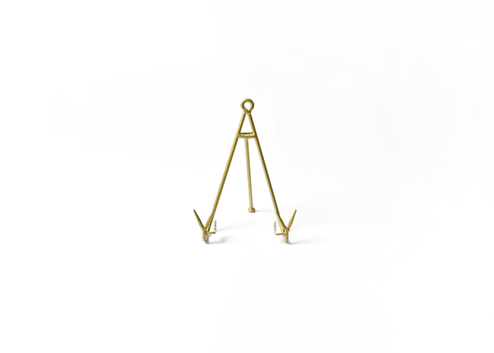 HAPPY EVERYTHING MEDIUM FLARE PLATE STAND GOLD
