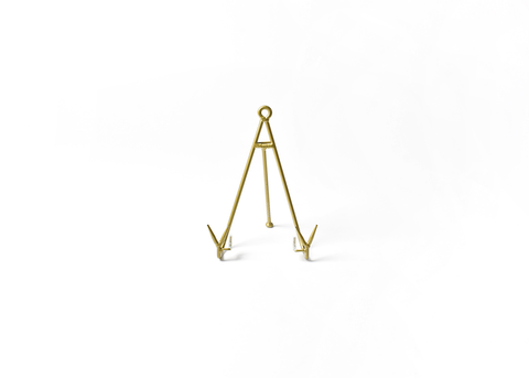 HAPPY EVERYTHING MEDIUM FLARE PLATE STAND GOLD, Happy Everything - A. Dodson's