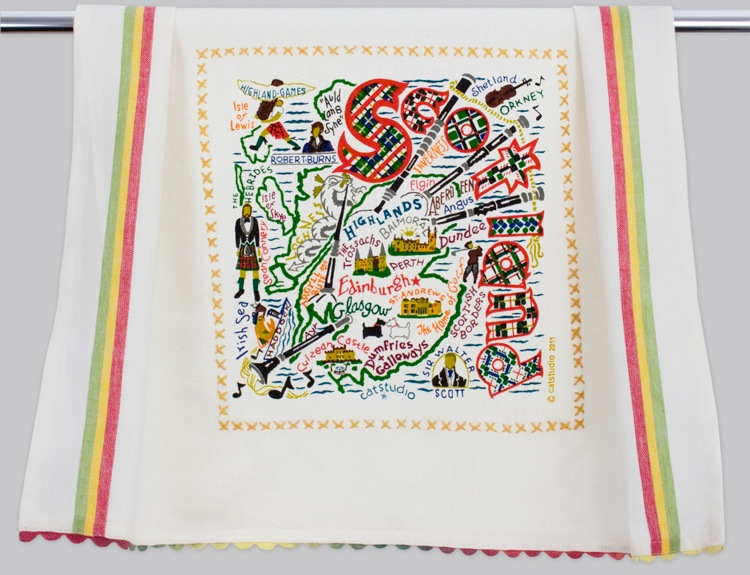 SCOTLAND DISH TOWEL BY CATSTUDIO, Catstudio - A. Dodson's
