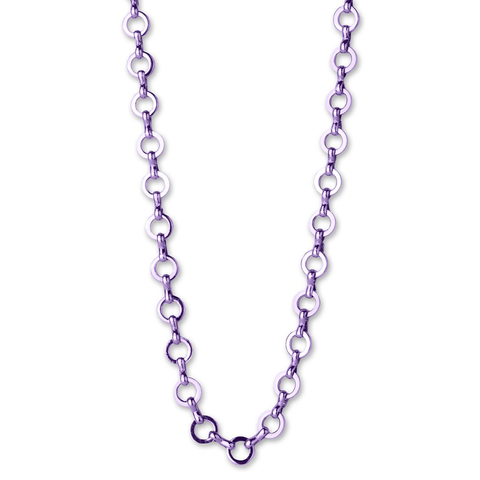 PURPLE CHAIN NECKLACE by High Intencity