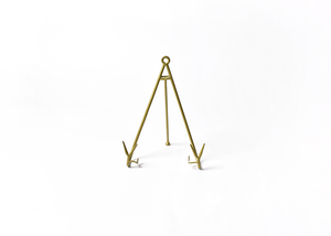 HAPPY EVERYTHING LARGE FLARE PLATE STAND GOLD Happy Everything - A. Dodson's