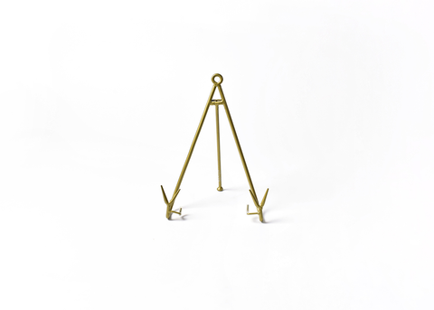 HAPPY EVERYTHING LARGE FLARE PLATE STAND GOLD, Happy Everything - A. Dodson's