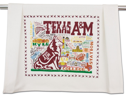 TEXAS A&M UNIVERSITY DISH TOWEL BY CATSTUDIO, Catstudio - A. Dodson's