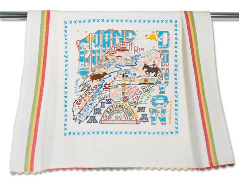 GRAND CANYON DISH TOWEL BY CATSTUDIO